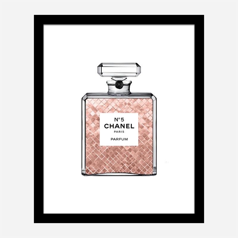Luscious Rose Gold in Chanel Perfume Art Print