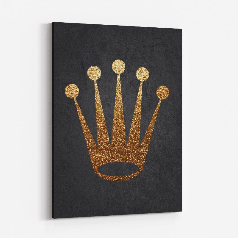 Rolex Gold Logo Wall Art