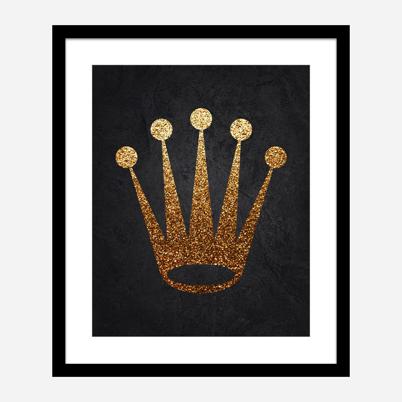 Rolex Gold Logo Wall Art