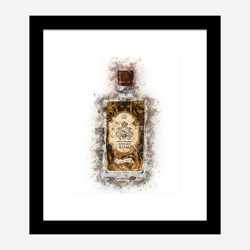 HH Bespoke Rum Abstract Art Print