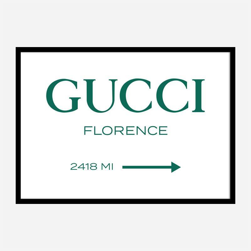Gucci Green Sign Wall Art