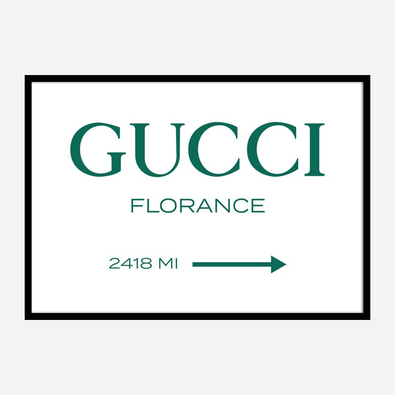 Gucci Green Sign Wall Art