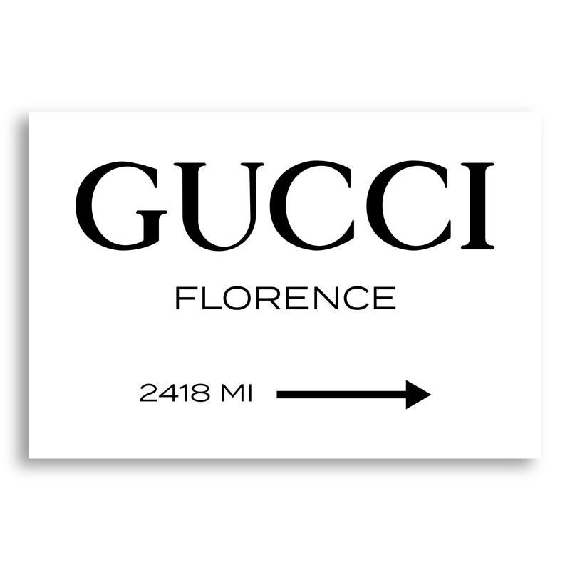 Gucci Sign Wall Art