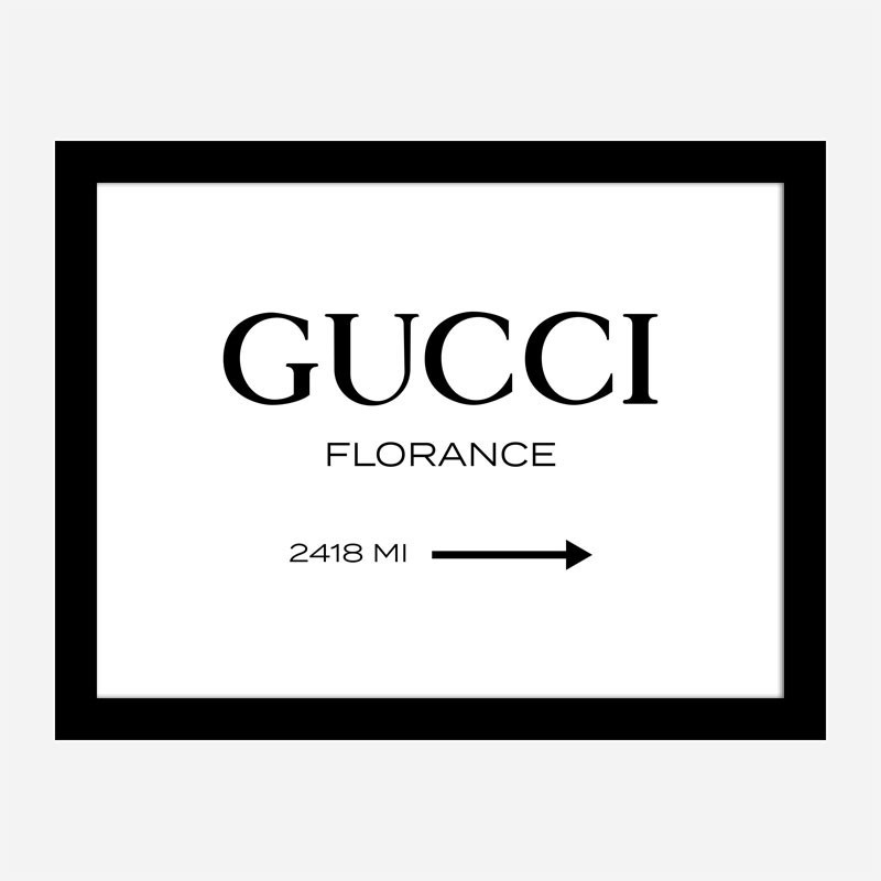 Gucci Sign Wall Art