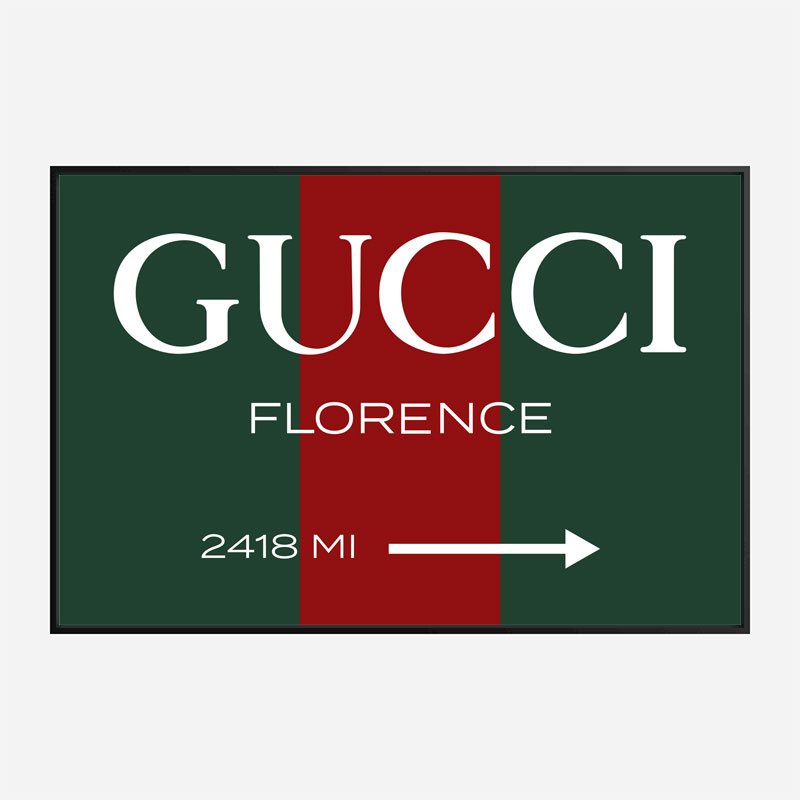 Gucci Color Sign Wall Art