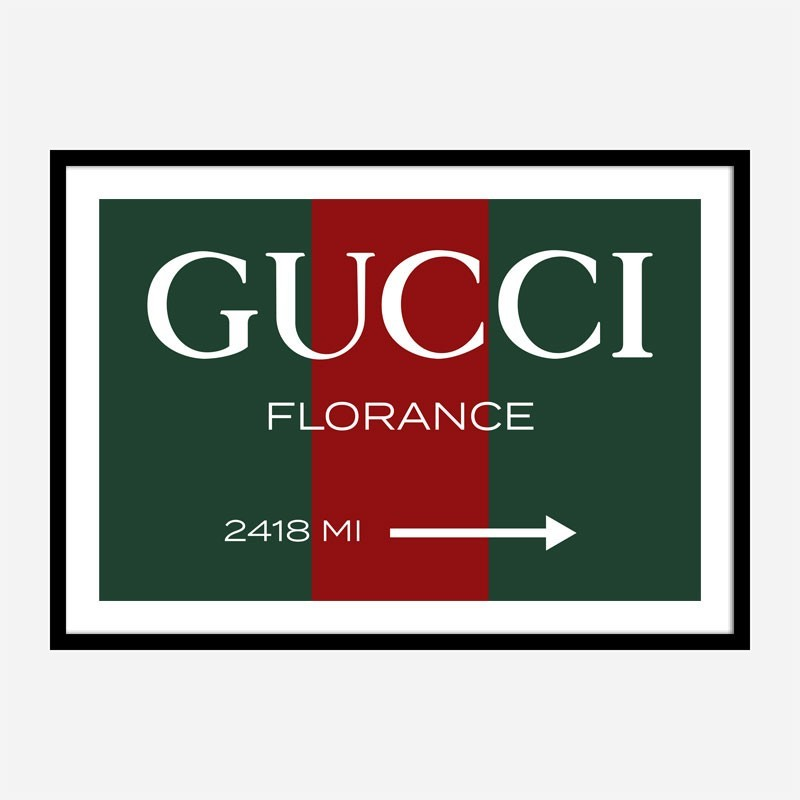 Gucci Color Sign Wall Art