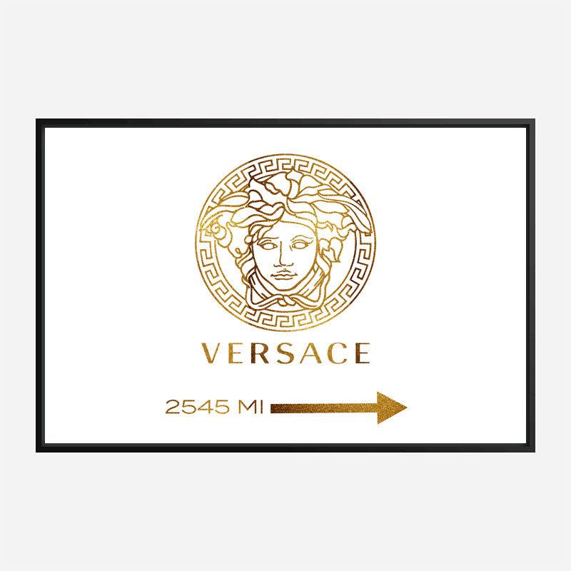 Versace Gold Sign Wall Art