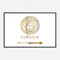 Versace Gold Sign Wall Art