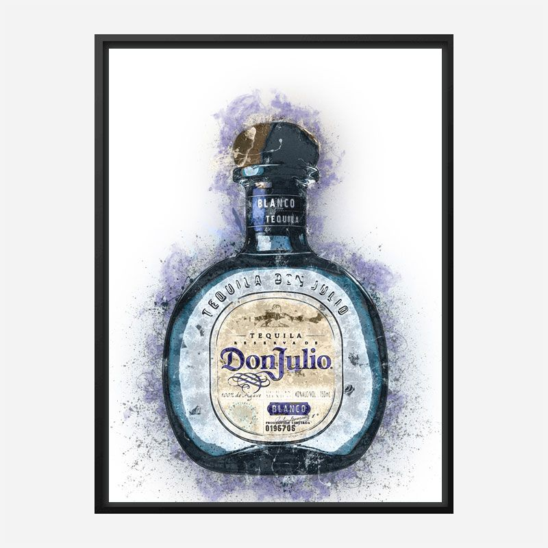 Don Julio Blanco Tequila Abstract Art Print