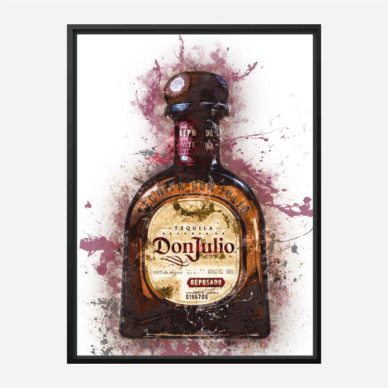 Don Julio Reposado Tequila Abstract Art Print