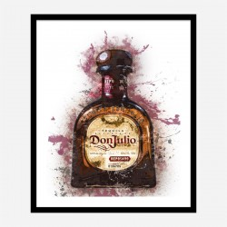 Don Julio Reposado Tequila Abstract Art Print
