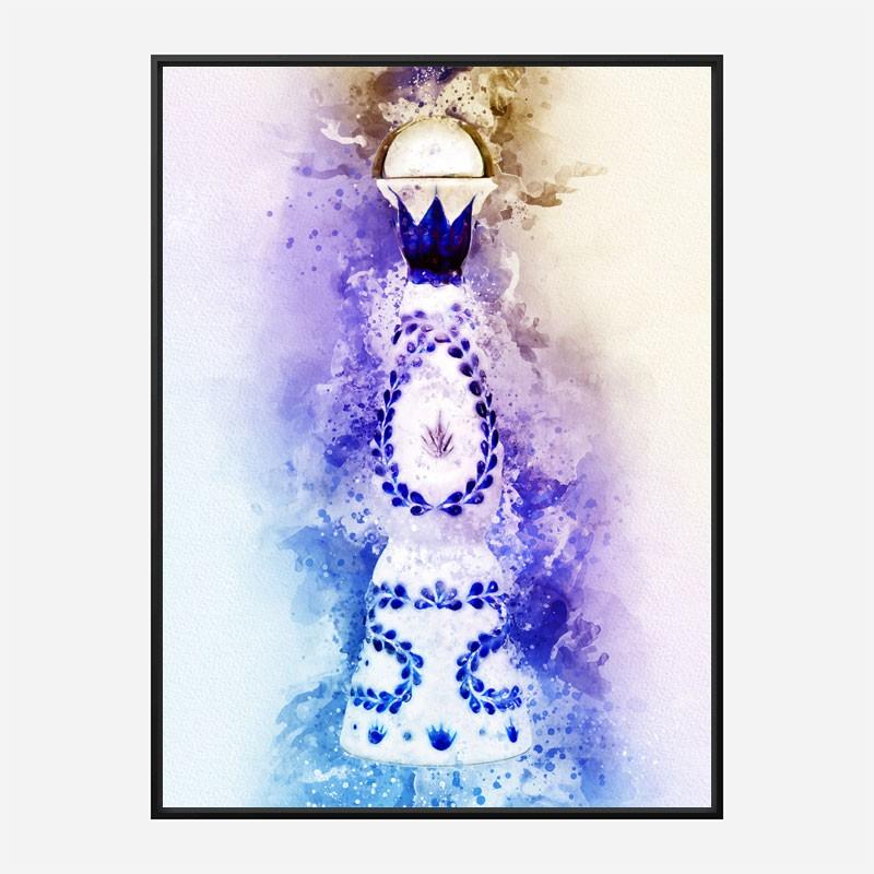 Clase Azul Reposado Tequila Watercolor Abstract Art Print