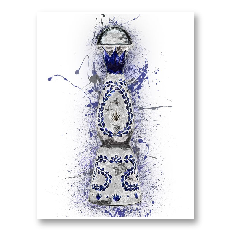 Clase Azul Reposado Tequila Abstract Art Print