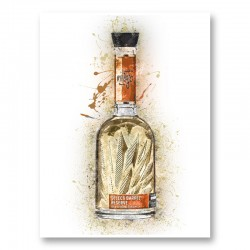 Milagro Select Reposado Tequila Abstract Art Print