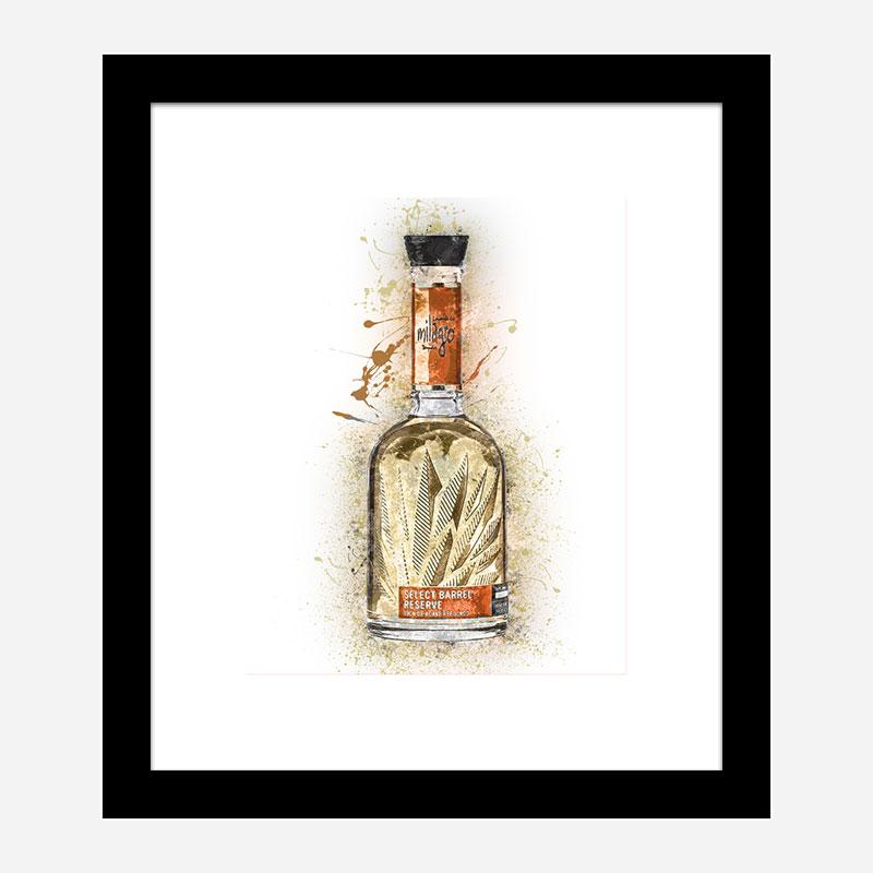 Milagro Select Reposado Tequila Abstract Art Print