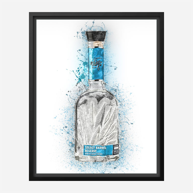 Milagro Select Silver Tequila Abstract Art Print