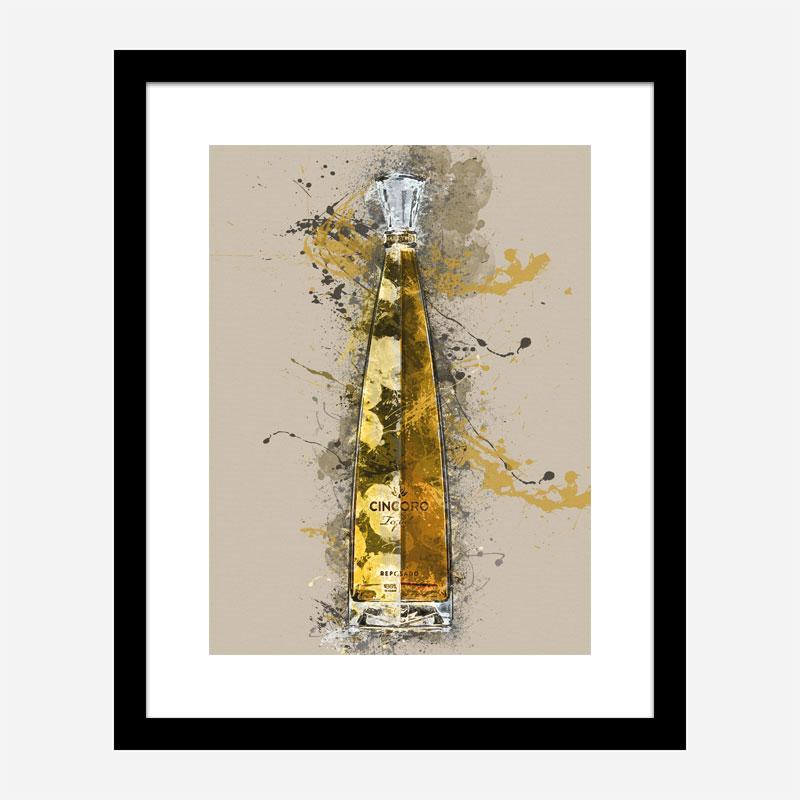 Cincoro Resposado Tequila Abstract Art Print