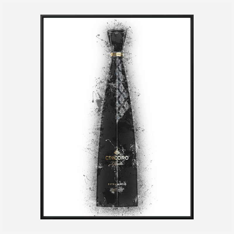 Cincoro Extra Añejo Tequila Abstract Art Print