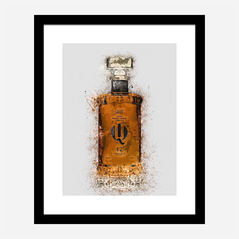 Qui Platinum Extra Tequila Abstract Art Print