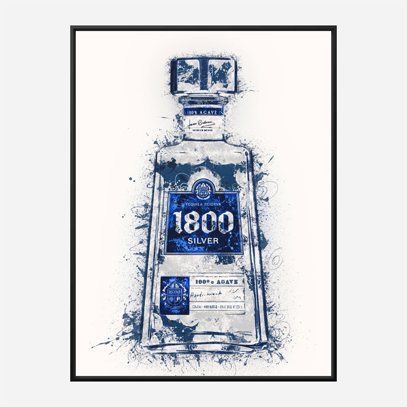 1800 Silver Tequila Abstract Art Print