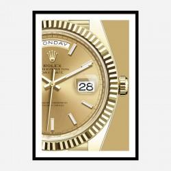 Day Date Gold Close Art Print