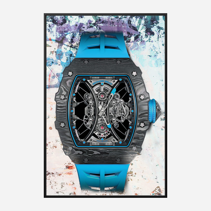 Richard Mille RM53 Blue Abstract Art Print