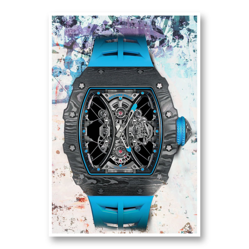 Richard Mille RM53 Blue Abstract Art Print
