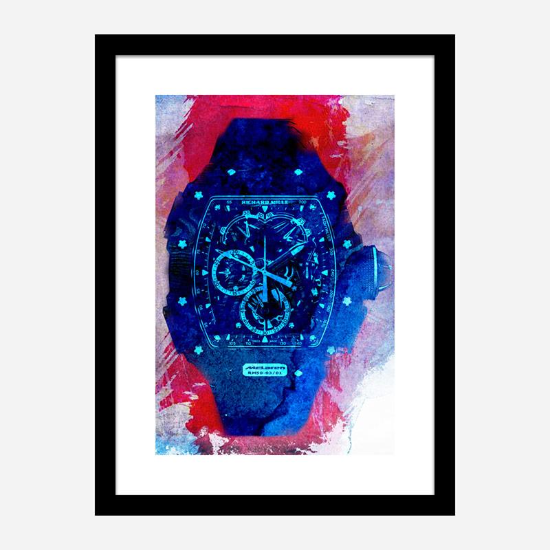 Richard Mille McLaren RM50 Watch Abstract Art Print