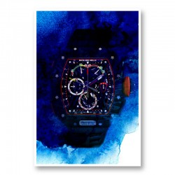 Richard Mille McLaren RM50 Watch Abstract Art Print