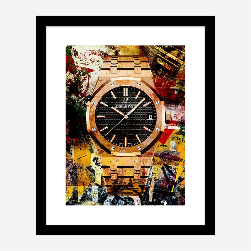 AP Oak Gold Grunge Art Print