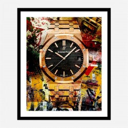 AP Oak Gold Grunge Art Print