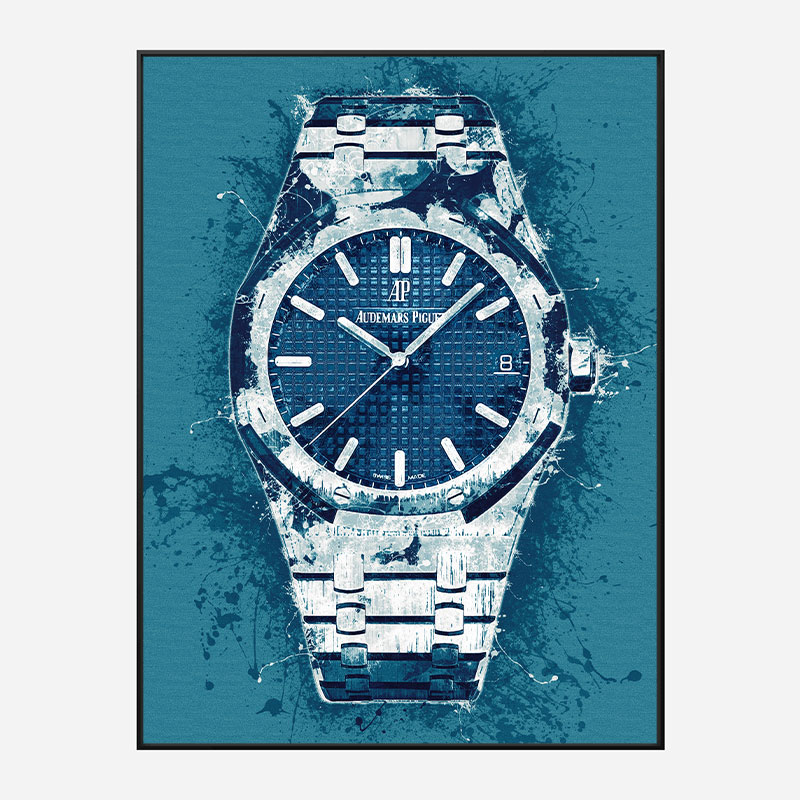 AP Oak Blue Pop Art Print