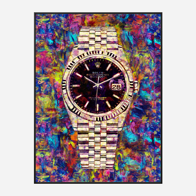 Rolex Datejust Gold Art Print