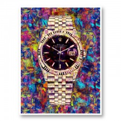 Rolex Datejust Gold Art Print
