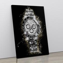 Rolex Daytona Watch Splatter Art Print