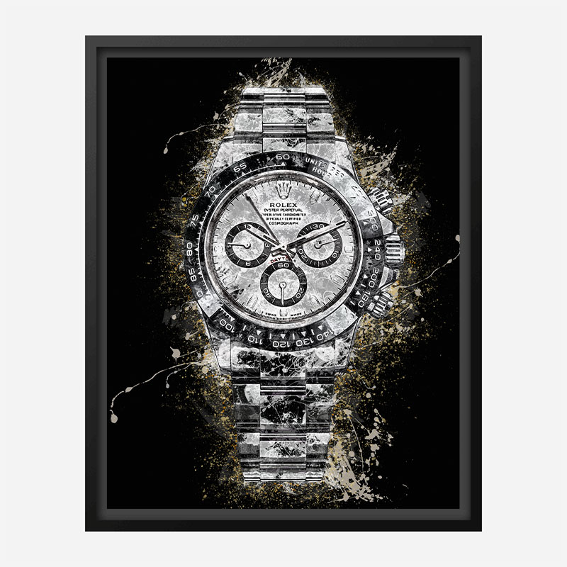 Rolex Daytona Watch Splatter Art Print