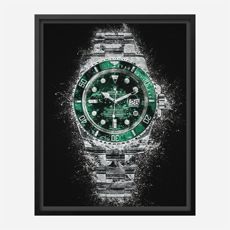 Rolex Hulk Abstract Art Print