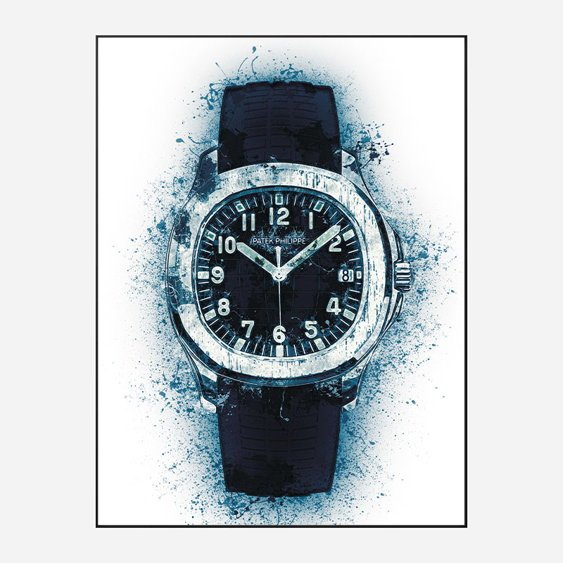 Patek Aquanaut Blue Abstract Art Print
