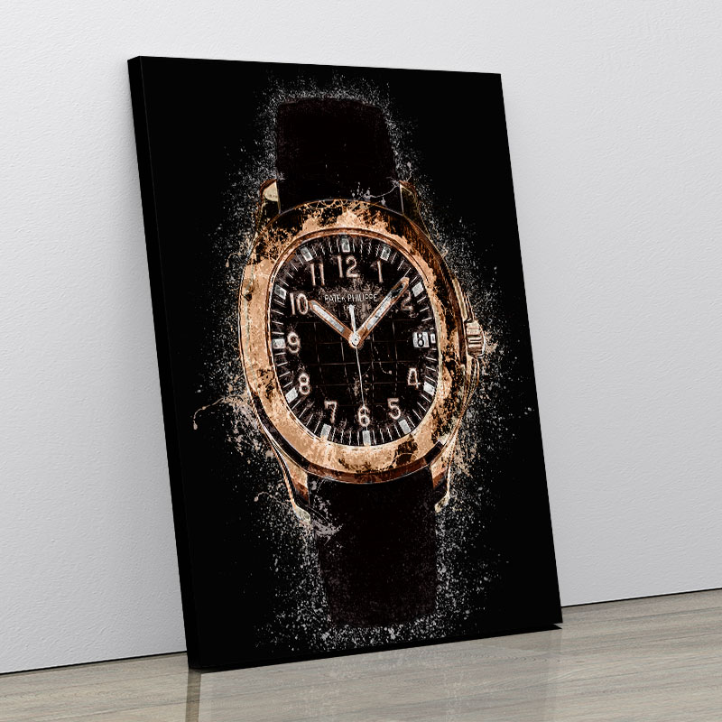 Patek Aquanaut Gold Abstract Art Print