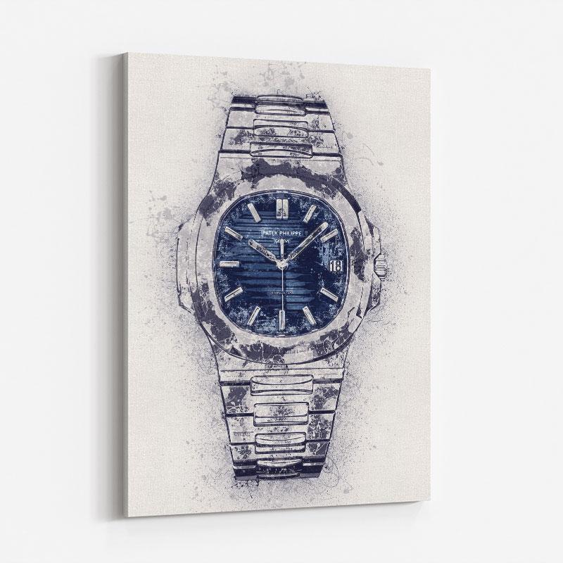 Patek Nautilus Abstract Art Print
