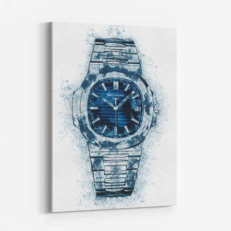 Patek Nautilus Blue Abstract Art Print