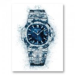 Patek Nautilus Blue Abstract Art Print