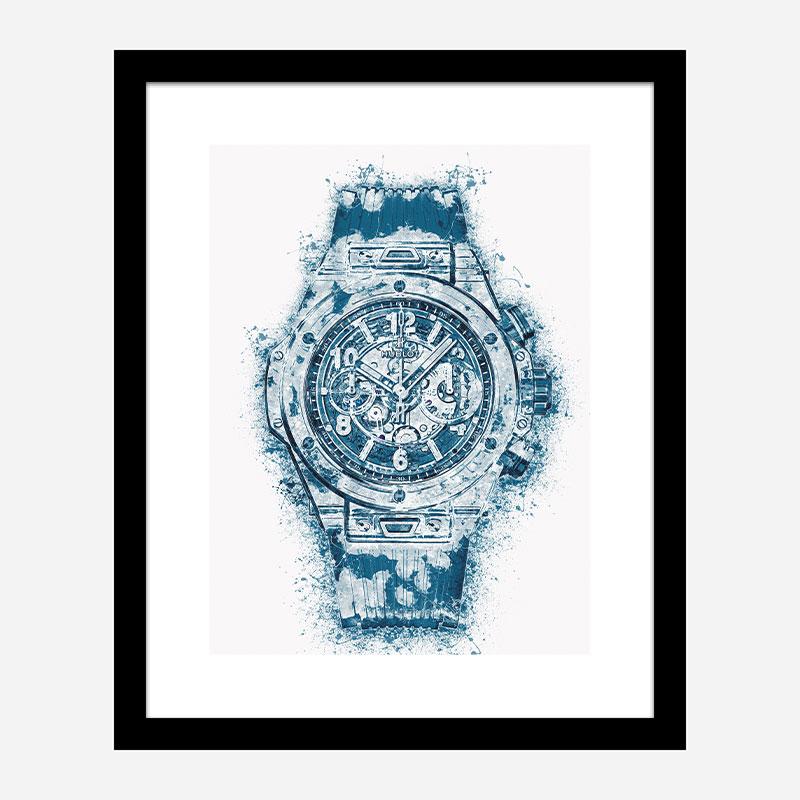 Unico Sapphire Abstract Art Print