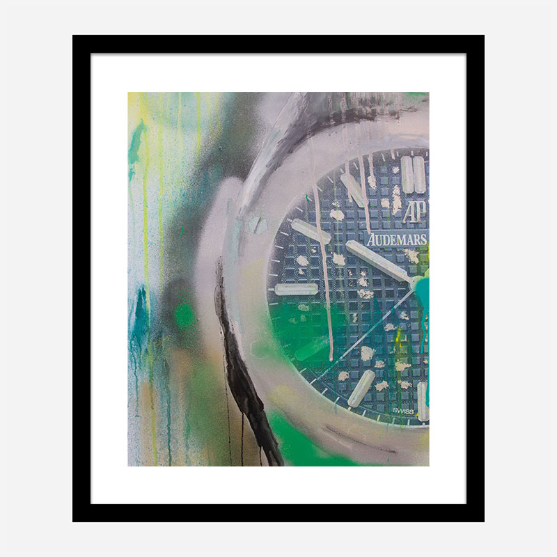 AP Green Abstract Art Print