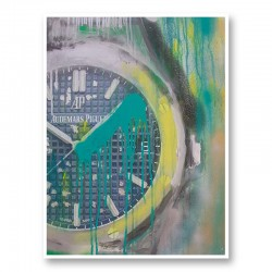 AP Green and Yellow Abstract Art Print