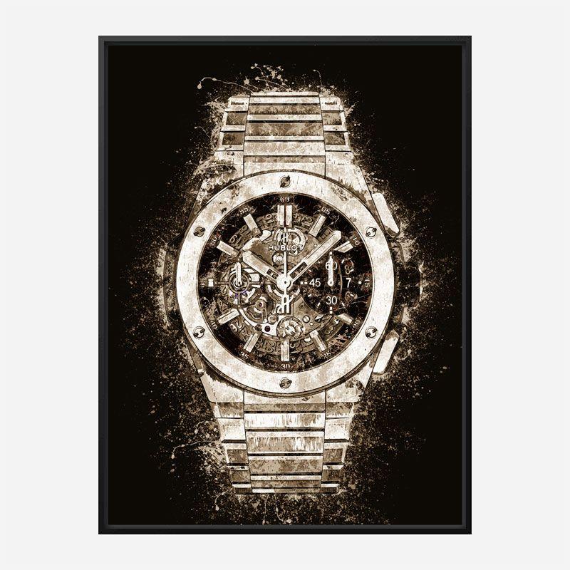 Big Bang Integral Titanium Abstract Art Print