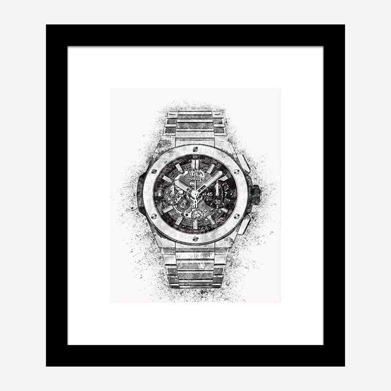 Big Bang Integral Titanium Abstract Art Print