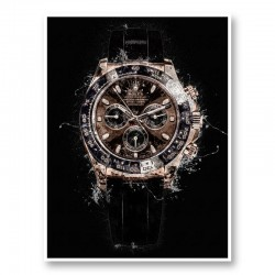 Daytona Rose Gold Abstract Art Print