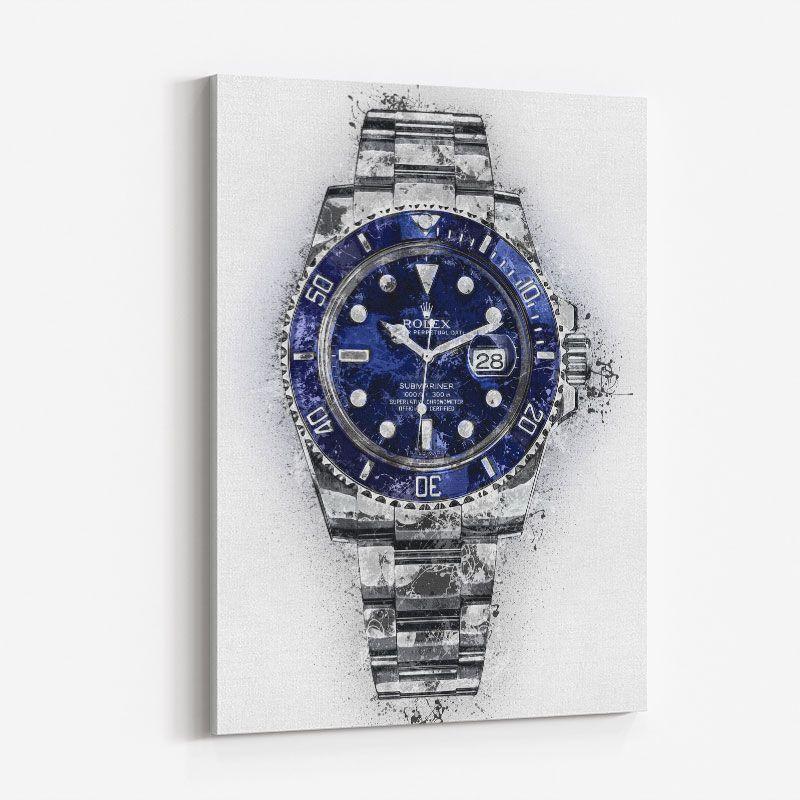 Submariner Blue Abstract Art Print