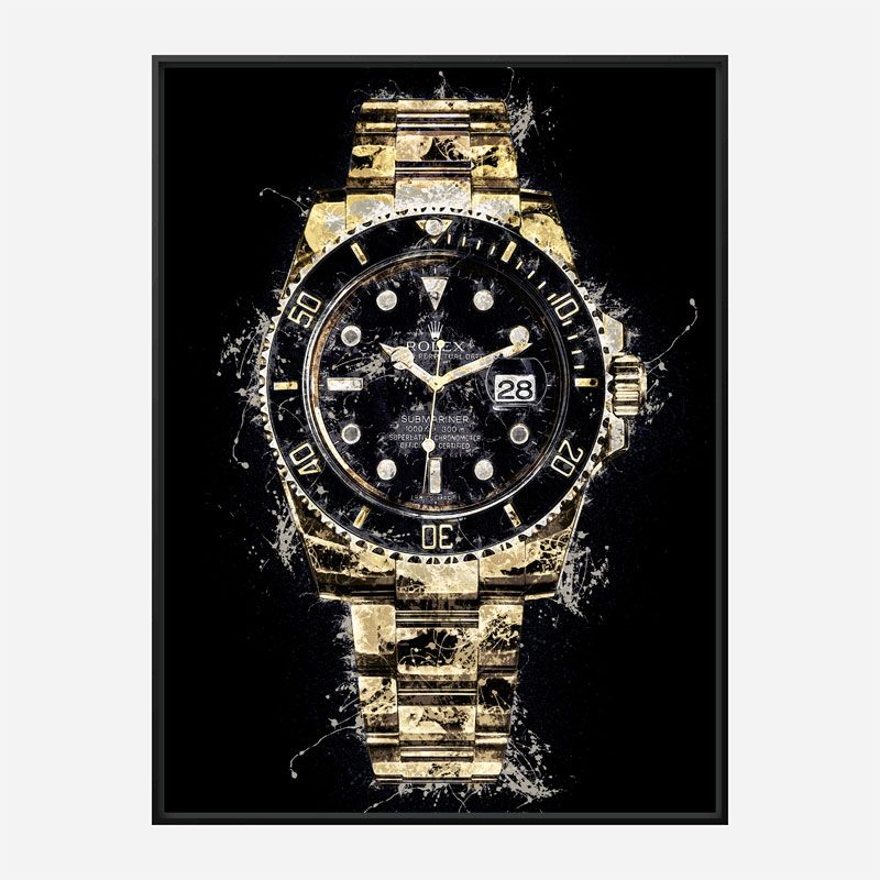 Submariner Gold Abstract Art Print